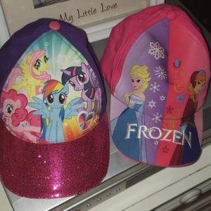 """NWOT """"My Little Pony"""" & """"Frozen"""" Kids Hats"""